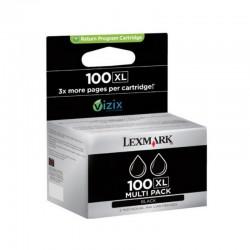 Lexmark 100 XL BK 2-pak...